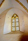 Window. Fortified medieval church Biertan, Transylvania. Royalty Free Stock Photos