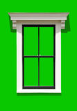 Window Frame. Isolated on green background. Clipping path included Royalty Free Stock Image