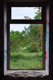 Window frame abstract landscape Stock Image