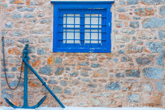 Window frame by anchor Stock Image