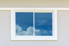 Window frame with blur sky Royalty Free Stock Photography