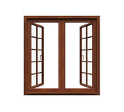 Window Frame Isolated. On white background. 3D render Stock Photo