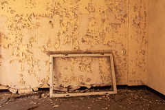 Window frame in old and abandoned room of  building Stock Photos