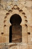 Window Frame. An old window frame in one of the ruins of Sale near Rabat, Morocco Stock Photography