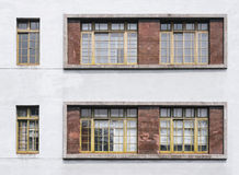 Window frame pattern on wall Architecture details Royalty Free Stock Images
