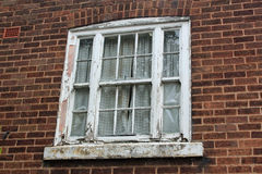 Window frame with pealing paint Royalty Free Stock Photos