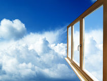Window frame in perspective Stock Photos