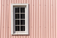 Window Frame Pink Metal Wall Royalty Free Stock Photos