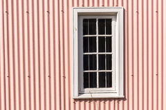 Window Frame Pink Metal Wall Royalty Free Stock Images