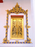 Window frame of temple at Nonthaburi Thailand. Royalty Free Stock Image