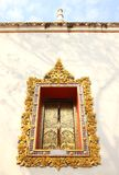 Window Frame of Thai Arts Stock Image