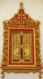 Window Frame of Thai Arts and Beautiful Royalty Free Stock Photography