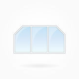 Window frame vector illustration, Eps 10 Royalty Free Stock Photo