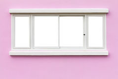 Window frame wall pink Stock Photography