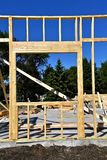 Window framed at a construction site Royalty Free Stock Photo
