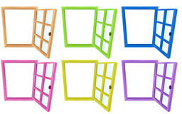 Window frames Stock Photos
