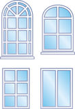 Window frames (Vector). Vector illustration isolated on white background - Window frames Stock Photos