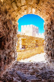 Window in Frangokastello fortress Royalty Free Stock Image