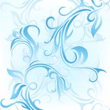 Window frost. Abstract pattern with swirls. Looks like window frost Royalty Free Stock Photos
