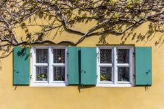 Window in the Fuggerei, the worlds oldest social housing complex Royalty Free Stock Images