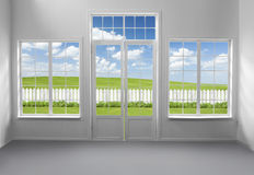 Window with Garden View Stock Photography