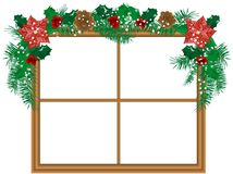 Window with the garland Royalty Free Stock Images