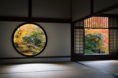 The window in Genko An temple Royalty Free Stock Image