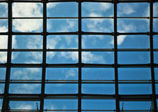 Window. Glass ceiling in the sky Stock Images
