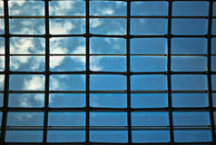 Window. Glass ceiling in the sky Royalty Free Stock Photos