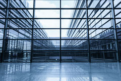 Window and glass curtain wall. In morden office building Stock Images