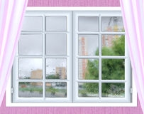 Window glass with a drop of rain Stock Photography