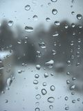 Window glass and rain drops Stock Images