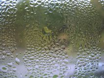 Window glass and rain drops Royalty Free Stock Photography