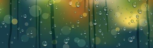 Window glass after rain. Stock Photo