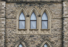 Window gothic architecture. Building exterior with gothic architecture window stone pattern Stock Photo
