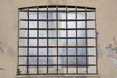 Window with grates Royalty Free Stock Image