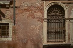 Window with gratings stock image