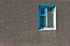 Window on gray wall Stock Photos