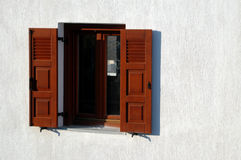 Window in greece Royalty Free Stock Images