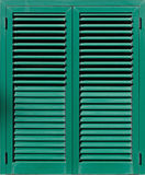 Window with green shutters, Stock Photo