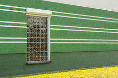 Window and green wall Stock Photography
