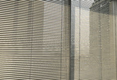 Window grey metallic jalusie sunblinds Royalty Free Stock Photography