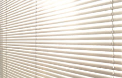 Window grey metallic jalusie sunblinds. Background office Stock Photography