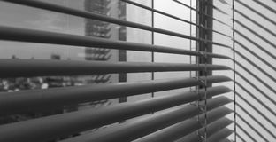 Window grey metallic jalusie sunblinds background Royalty Free Stock Images