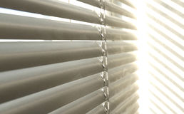 Window grey metallic jalusie sunblinds. Background office Royalty Free Stock Photo