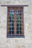 Window with grid Royalty Free Stock Photography