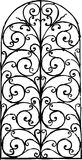 Window grille. Vector image of an ancient window lattice Stock Image