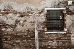 Wall of brick and window Royalty Free Stock Image