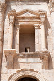 Window on Hadrian's gate in  Jerash Royalty Free Stock Image