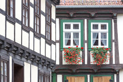 Window on a half-timbered house Stock Photography